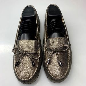 MICHAEL KORS Shiny Flats Shoes Slip On Loafers 6.5